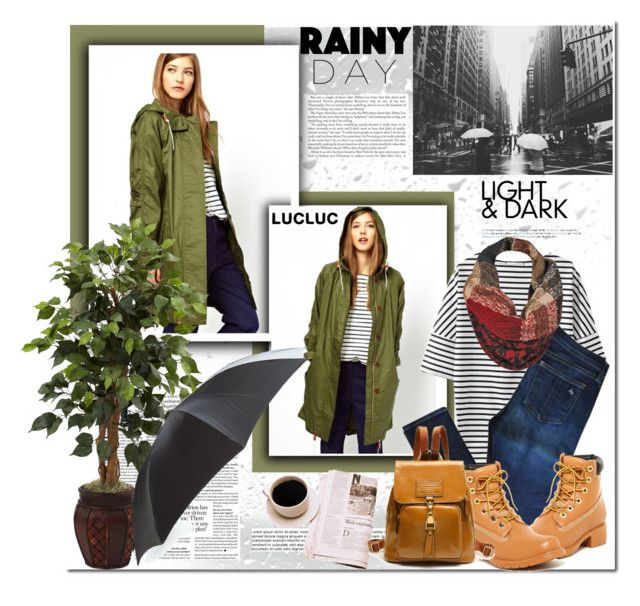 """""""Rainy Day Style"""" by mycherryblossom ❤ liked on Polyvore featuring rag & bone, Jeffrey Campbell, Alexander McQueen and Black Rivet"""