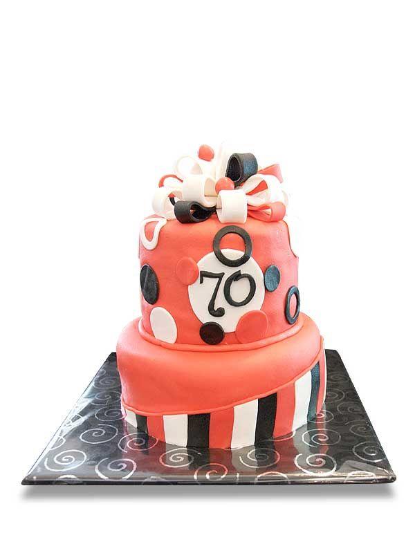 PuurTaart :: Taartengalerij - Verjaardag taart 70 jaar - Birtday cake