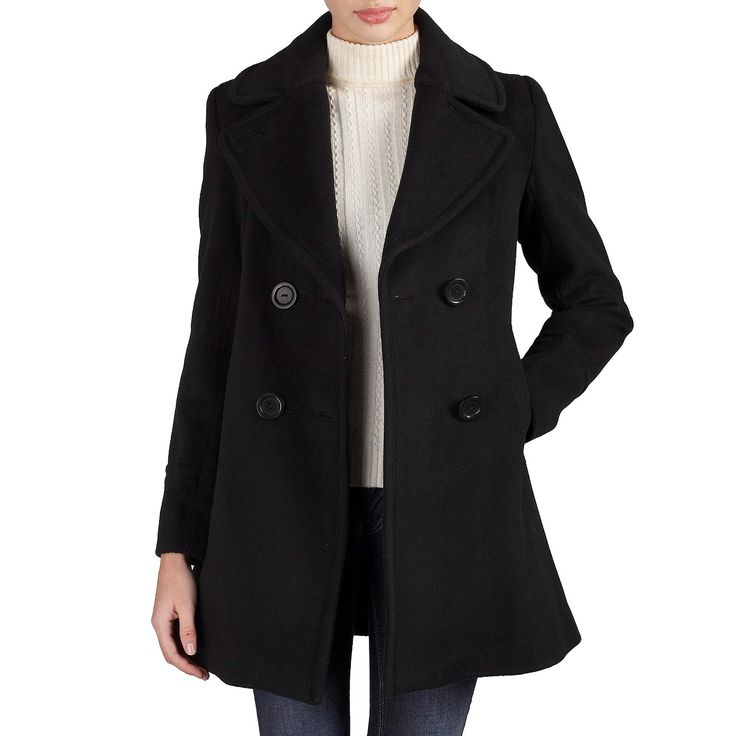 Coat liked on Polyvore (see more peacoat coats