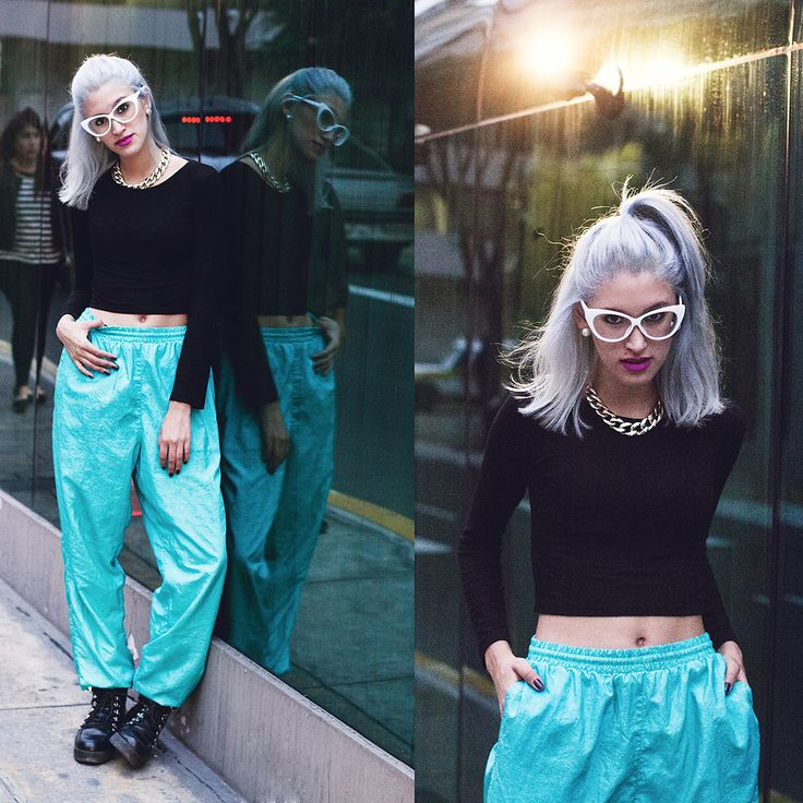 Andrea Chavez -  - GLAM WITH 90'S SPORTY PANTS