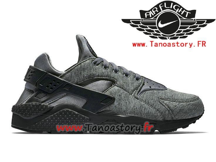 Chaussures Homme Nike Air Huarache Run TP Prix Pas Cher Gris Noir 749659_002-749659_002-Nike Basketball - Nike Site Officiel | Tanoastory.fr