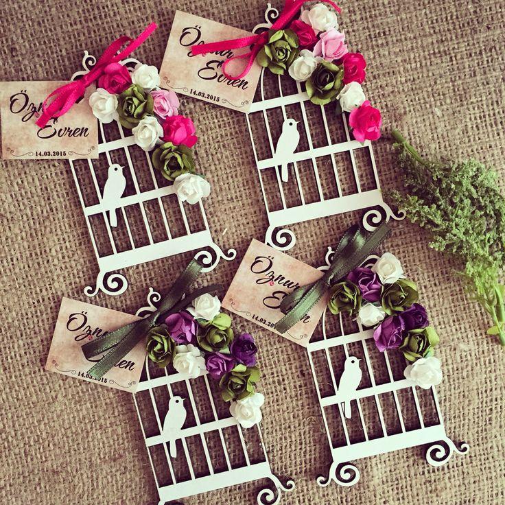 Love birds wedding favors /aşk kuşları nikah hediyesi www.masalsiatolye.com