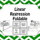 A fun foldable to teach how to find the line of best fit, graph the line of best fit, find the correlation coefficient, graph a residual plot, and ...