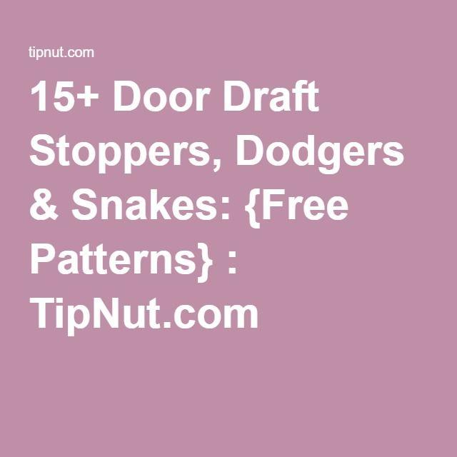 73 Best Images About Diy Door Stops Draft Dodgers On