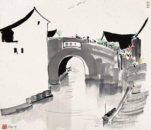 Wu Guanzhong's Landscape of Jiangnan | Chinese Painting | China Online Museum