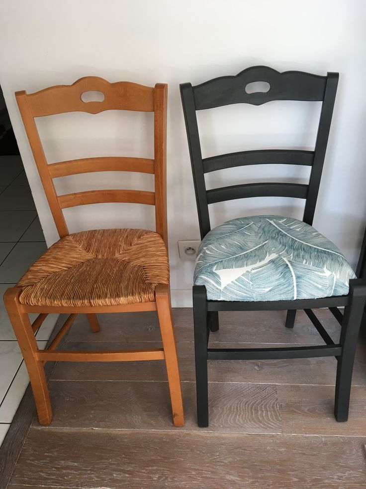 Chaise en paille relook e relooker meuble relooking de Relooker des meubles