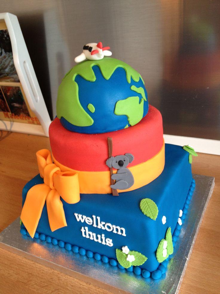 Australië - welkom thuis - taart