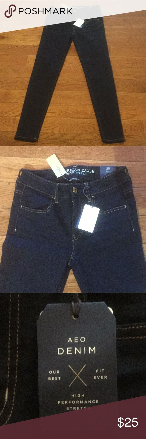 """American Eagle Denim Leggins New size 4 Leggins. Measurements taken laying flat: waist - 14"""", rise -10"""", inseam - 29, leg opening - 5. Make me an offer American Eagle Outfitters Jeans"""