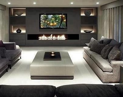 photos of firplace/tv combos | That fireplace/TV combo! | Dream Home Ideas