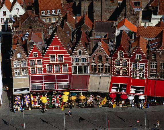 Bruges, Belgium.  Chocolate, waffles, lace, bicycles. Hooray!