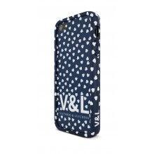 Bumper iPhone 5 Victorio y Lucchino - Corazones Azules con sticker y protector pantalla antihuellas  $ 42.836,36
