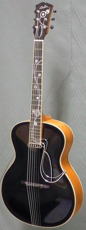 Grellier Guitars  Kozmic Blues Archtop Guitar --- https://www.pinterest.com/lardyfatboy/