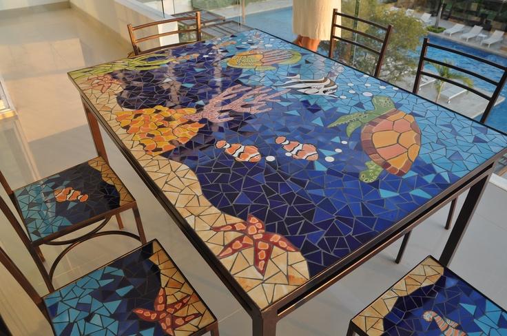 Mesa mosaico...la quiero