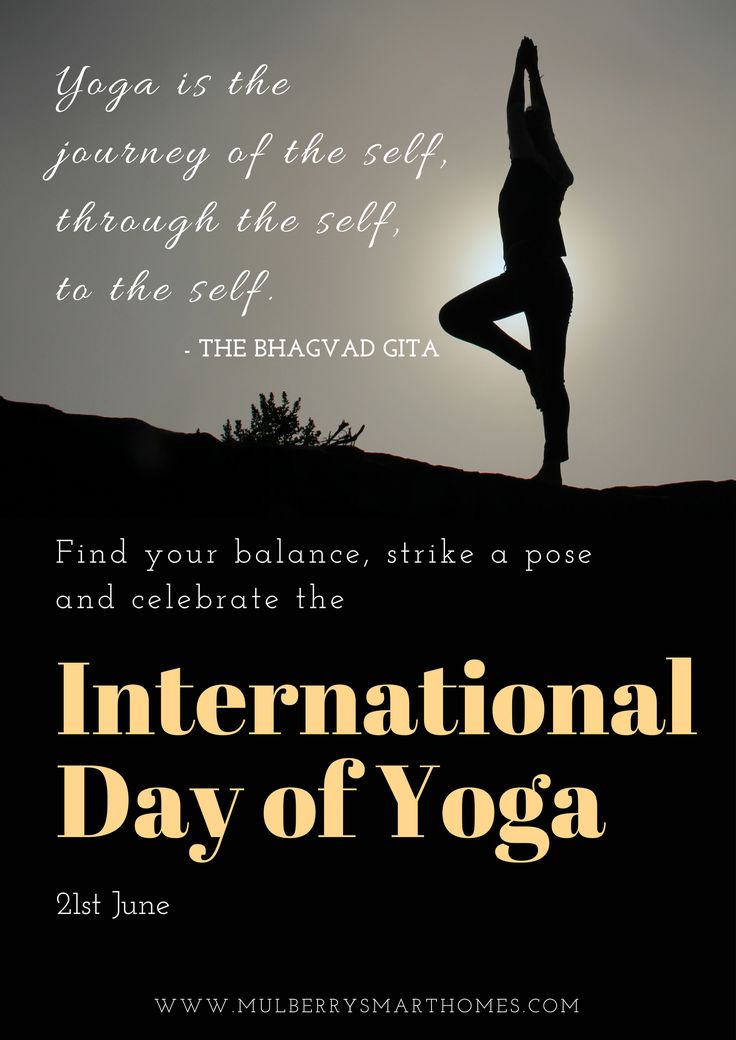Find your balance, strike a pose and celebrate the International Day of Yoga!