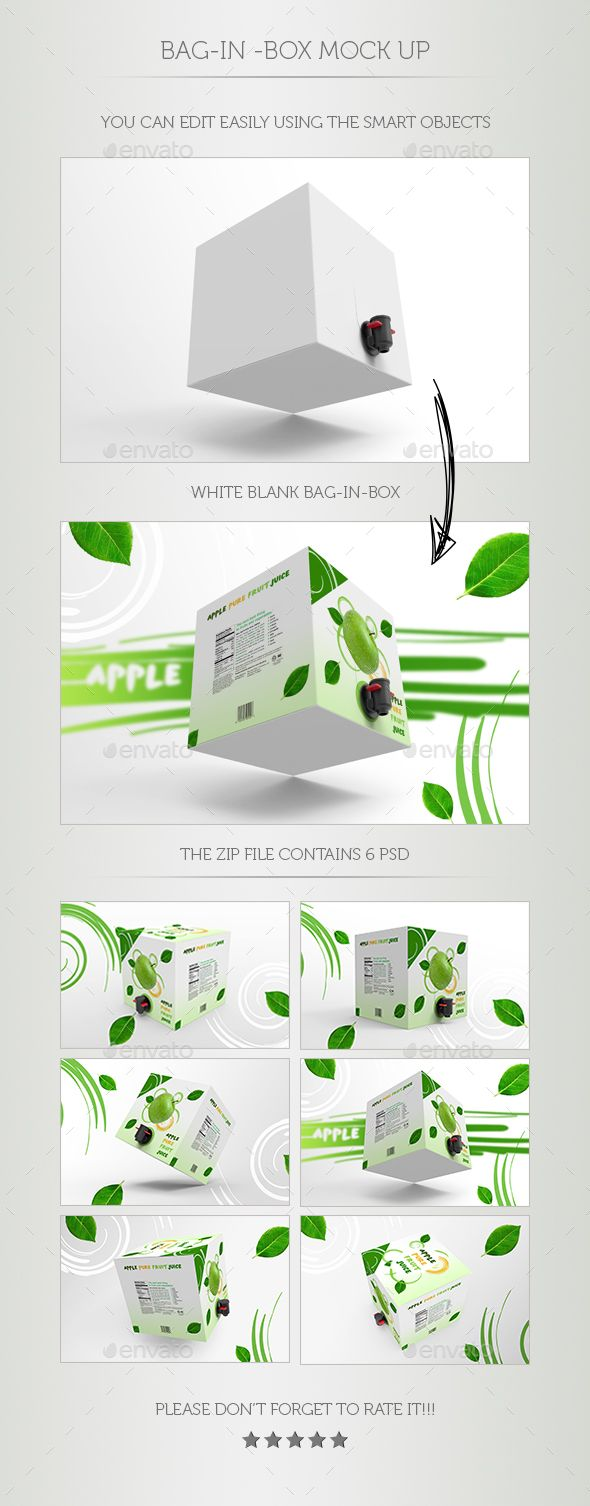 Bag-In-Box Mock Up - Food and Drink Packaging