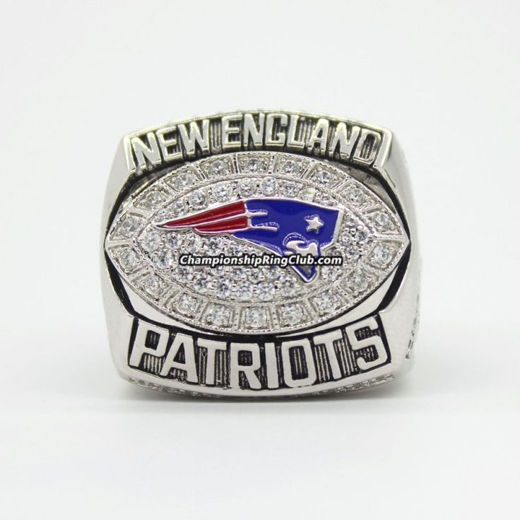 2007 New England Patriots AFC Championship Ring. Best gift from www.championshipringclub.com for  Patriots fans. You can custom your  personalized championship ring now.