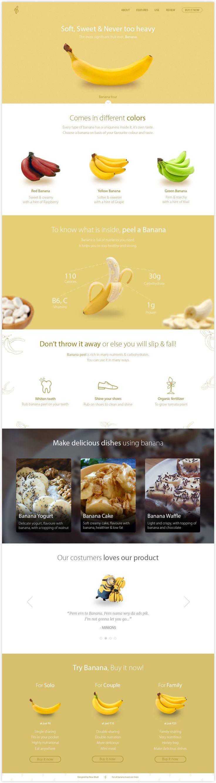 Banana Landing page: Creative exercise — Nirav's Portfolio — Medium