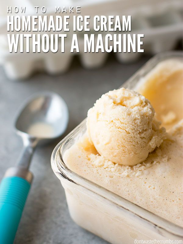Easily make homemade ice cream without a machine by using ice cube trays & blender. Saves money on buying a machine & makes delicious ice cream every time!