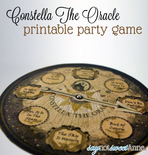Oracle Party Game [Free Printable] - Sweet Anne Handcrafted Designs
