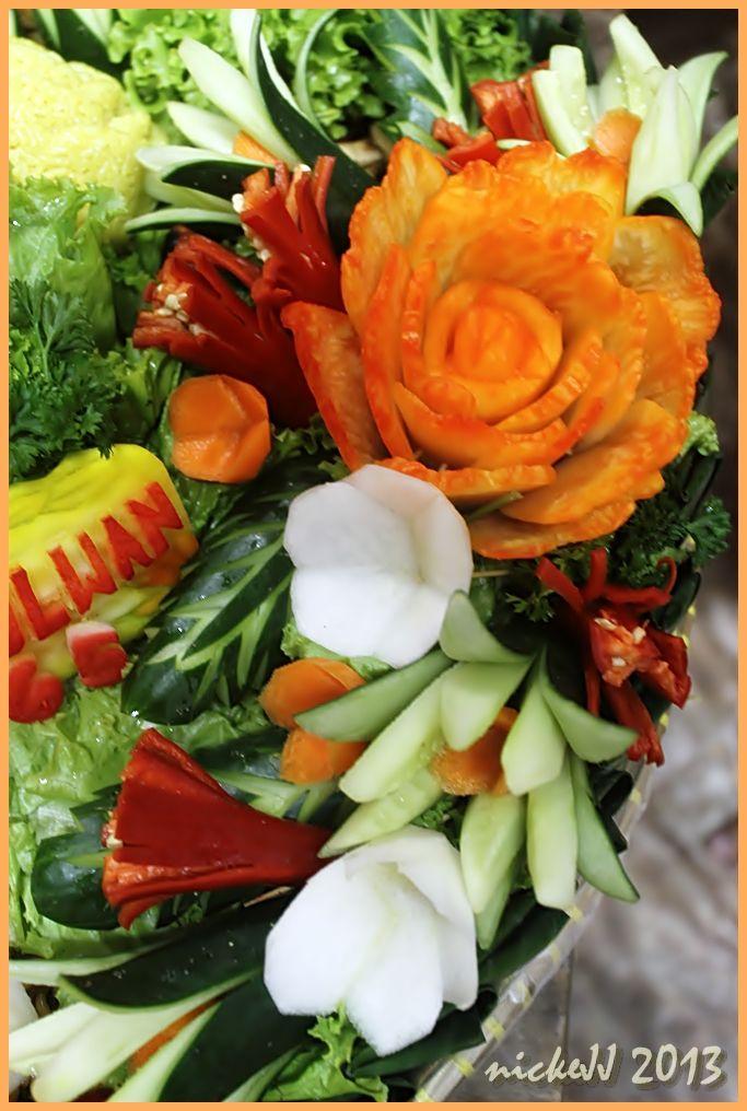 Garnish from vegetables for Tumpeng
