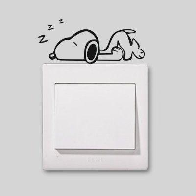 Niedliche Home Snoopy in ein Nickerchen Schöne Muster Licht Schalter/Steckdose…