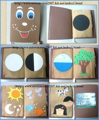 Creation Book -- either make in fabric as a quiet book or make with cardstock and insert into a small photo album for pre-readers