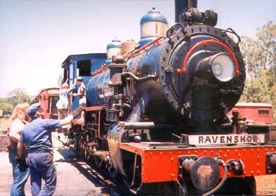 Queensland Railway locomotive headed to Ravenshoe...