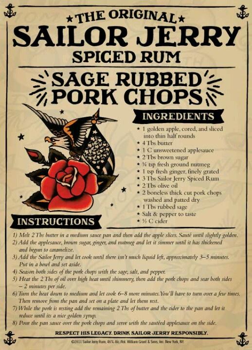 Sailor Jerry Sage Rubbed Pork Chops