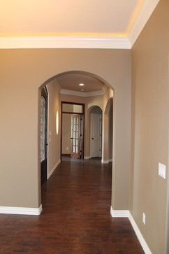 Sherwin Williams Practical Beige 6100, ceiling is Sand666 Dollar 6099- Douglas Custom Homes