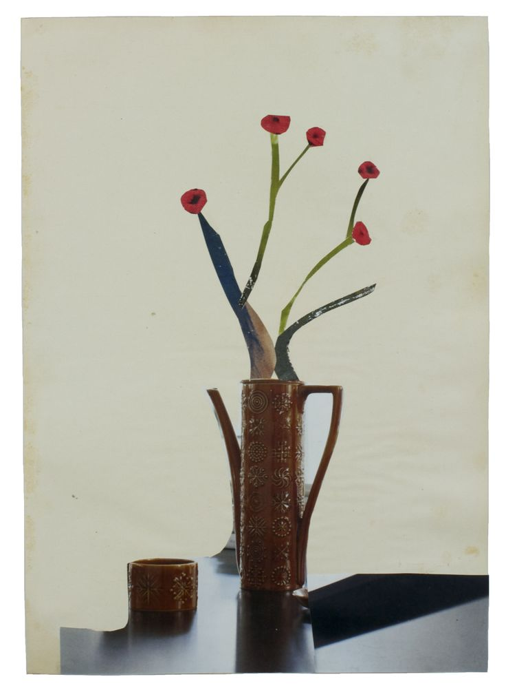 Anke Roder 'Flowers in a vase' 2015 collage 28,5 x 20 cm