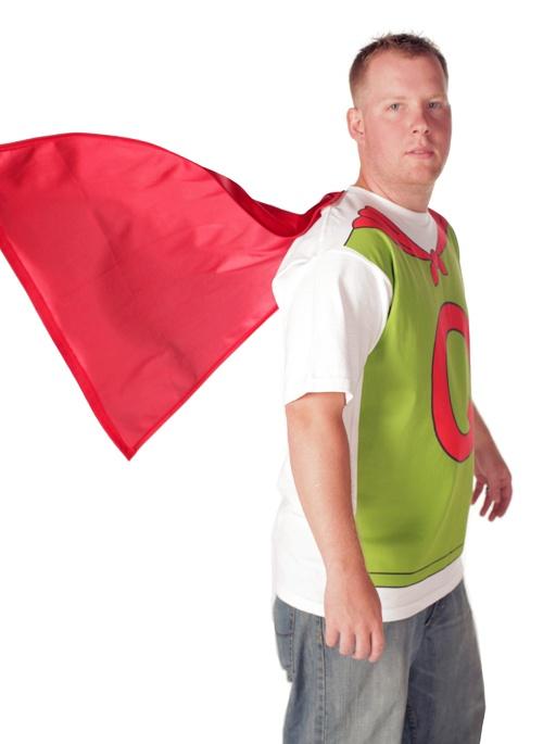 Doug Quailman Q Cape White Adult Costume T-shirt with ... Quailman Q