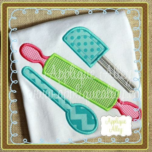 ☆ CUTE appliqué for kitchen towels, placemats, ovenmits, table runners, etc!!! ☆
