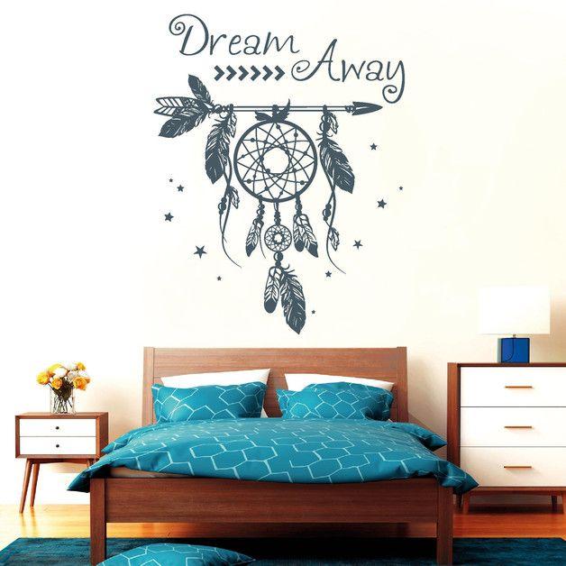 Wandtattoo - Wandtattoo Traumfänger Wandaufkleber Schriftzug - ein Designerstück von wandtattoo-loft bei DaWanda