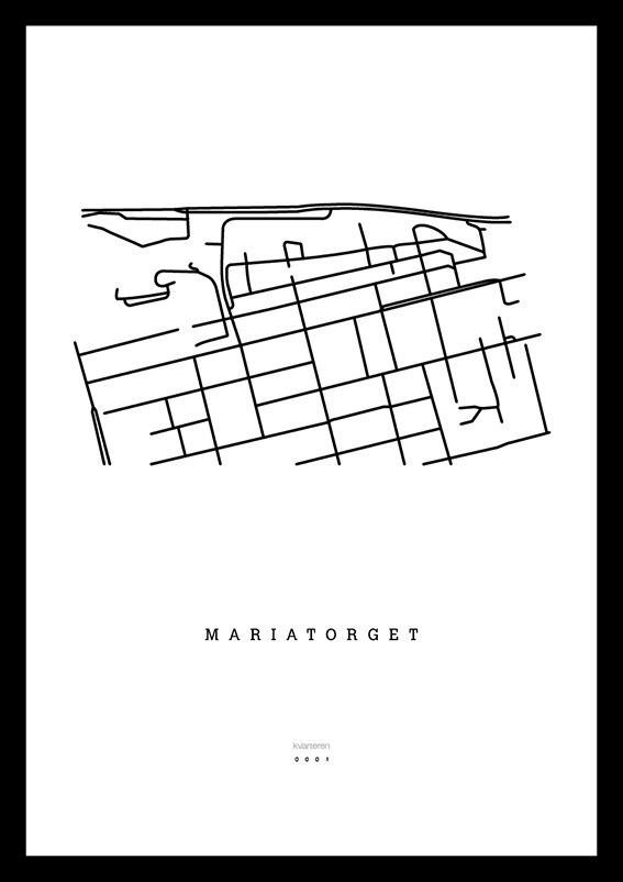Mariatorget via kvarteren. Click on the image to see more!