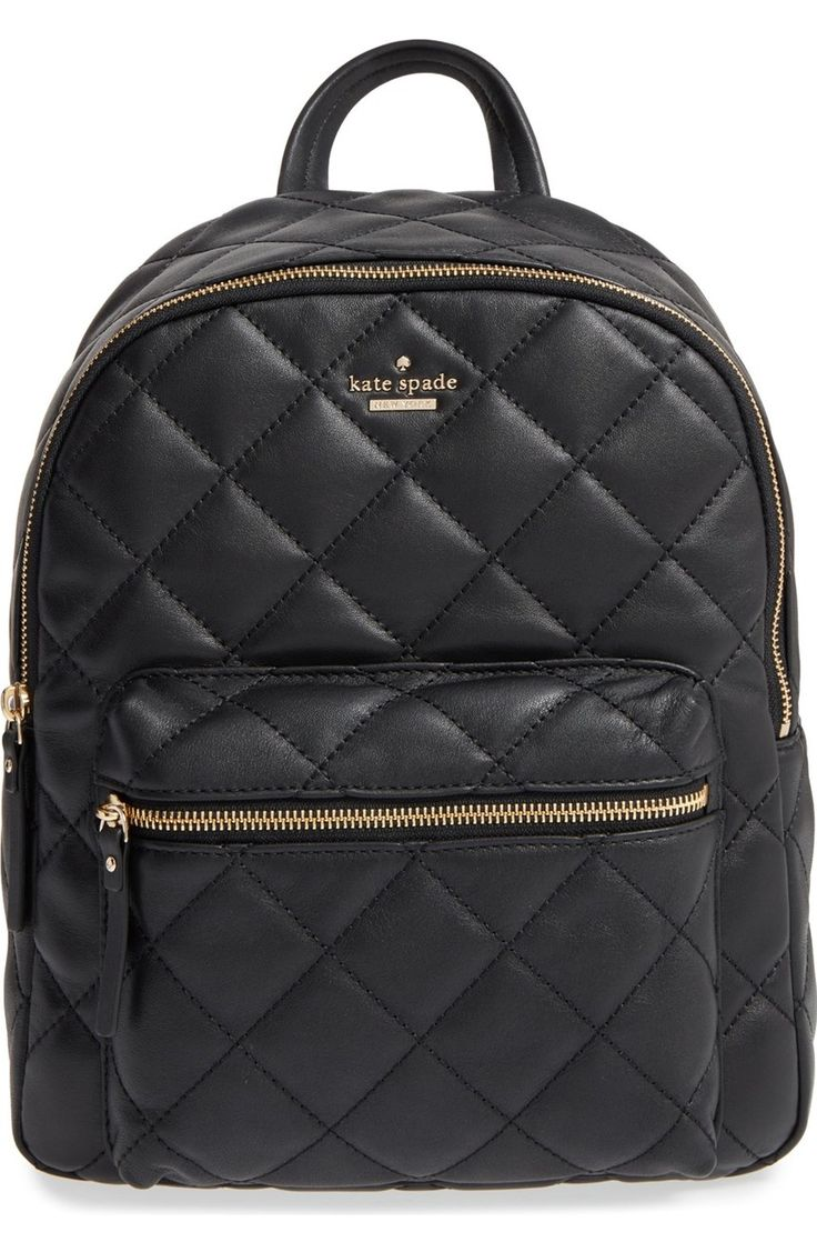 A diamond-quilted finish enhances the vintage sophistication of this Kate Spade leather backpack that's a chic everyday alternative to ordinary handbags. get yours at @nordstrom #nordstrom