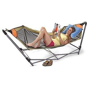 This portable fold-out hammock that you can easily take to the beach or the park…