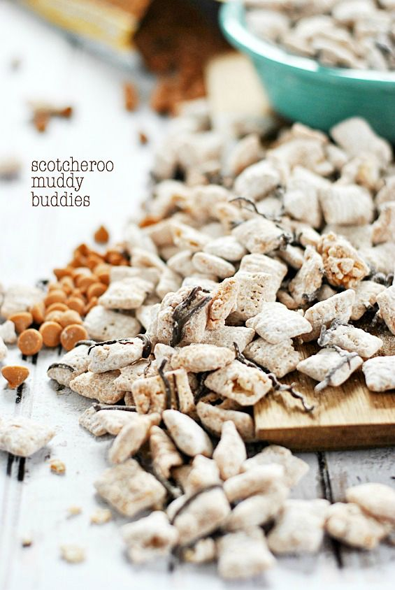 Scotcheroo Muddy Buddies | www.somethingswanky.com