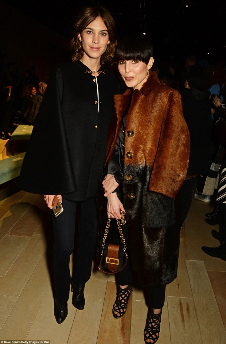 Stylish duo: Alexa was in the mood to pose as she grabbed a snap with Swedish actress Noom...