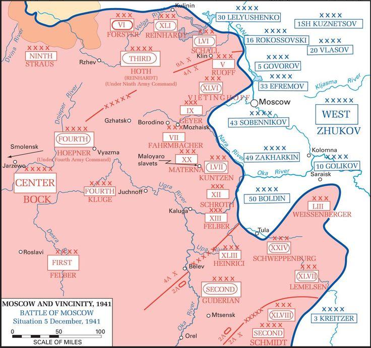 Batalla de Moscú - Máximo avance alemán.