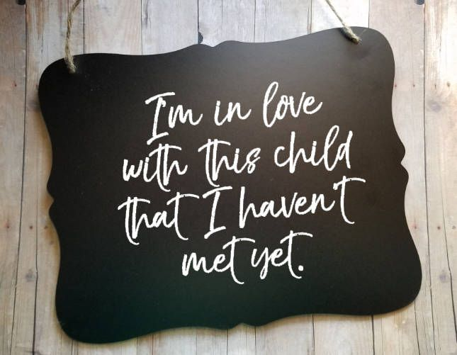 I'm in love with this child that I haven't met yet - Maternity Photo Prop - Pregnancy Announcement Sign - Adoption Announcement Sign by VinylCraftics on Etsy