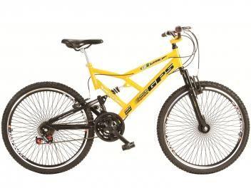 Bicicleta Colli Bike Aro 26 21 Marchas - Dupla Suspensão Freio V-Brake com as melhores condições você encontra aqui no Magazine Allameda. Venha Conferir!