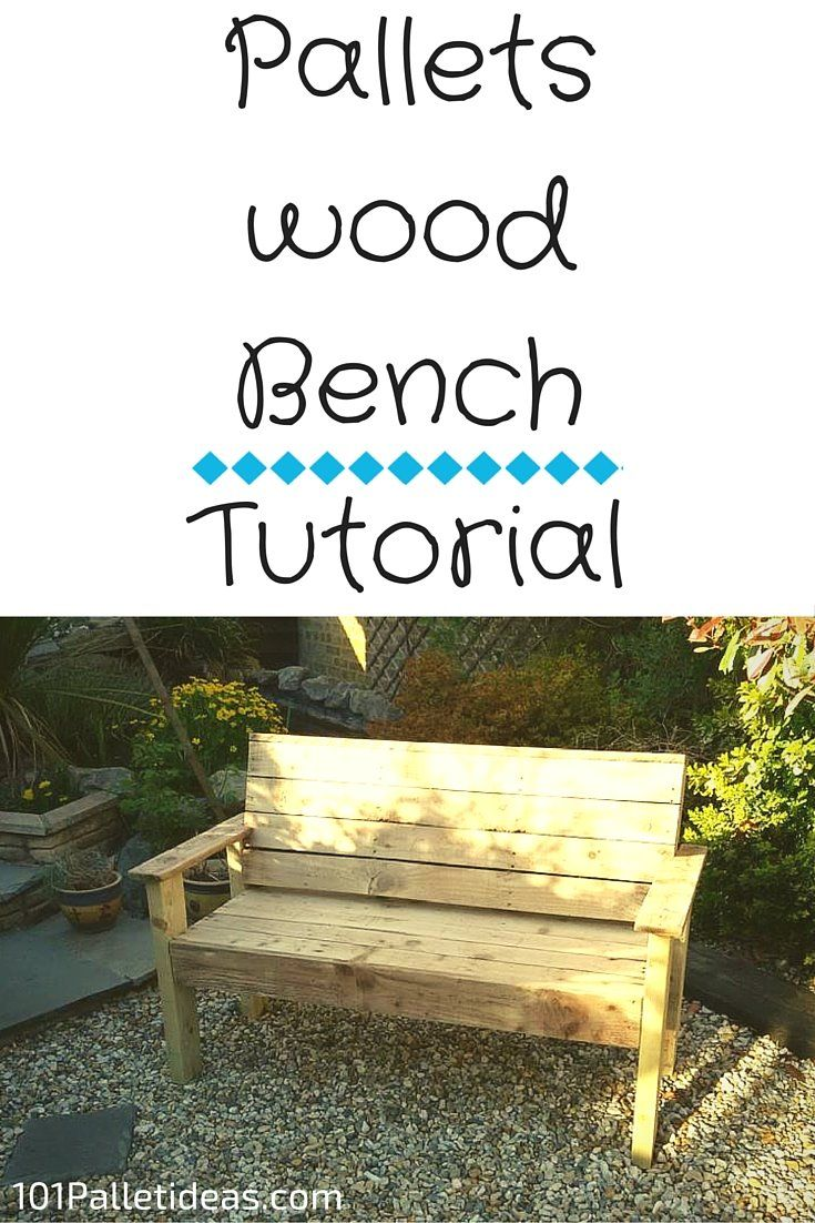 Bench from #Pallets: Tutorial | 101 Pallet Ideas
