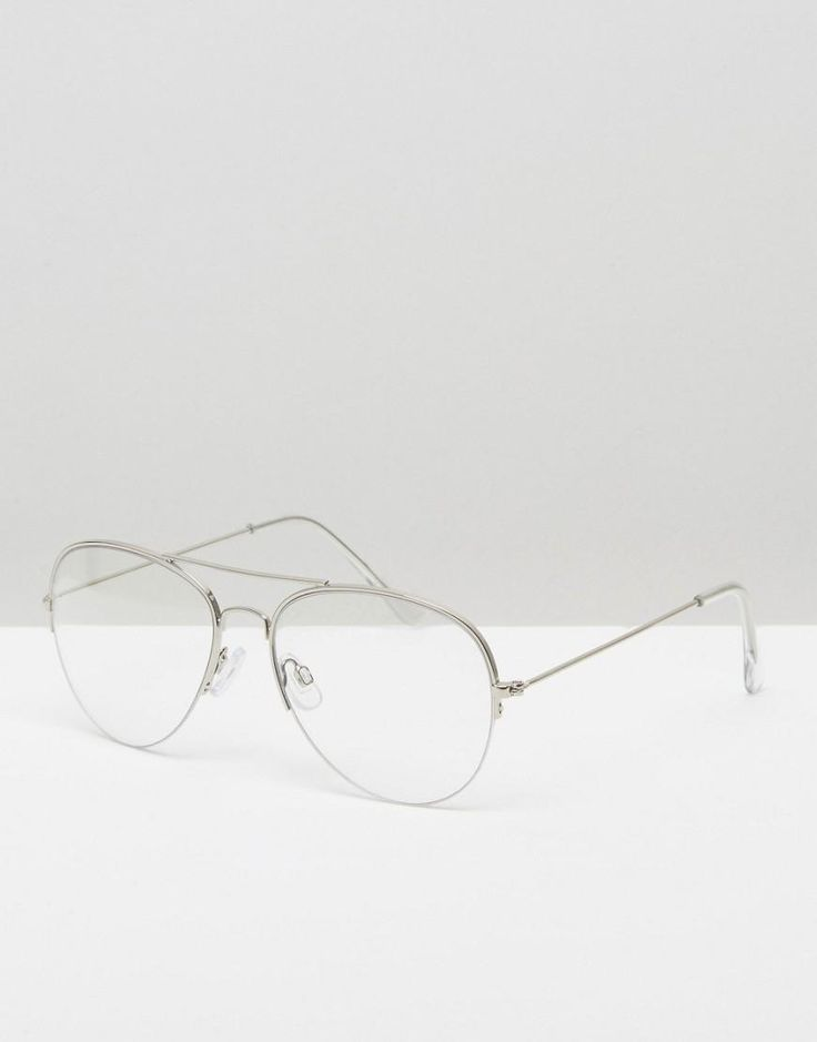 Pieces | Gafas de sol aviador con lentes transparentes de Pieces en ASOS