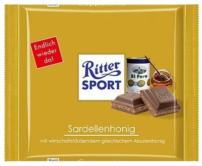 RITTER SPORT Fake Schokolade Sardellenhonig