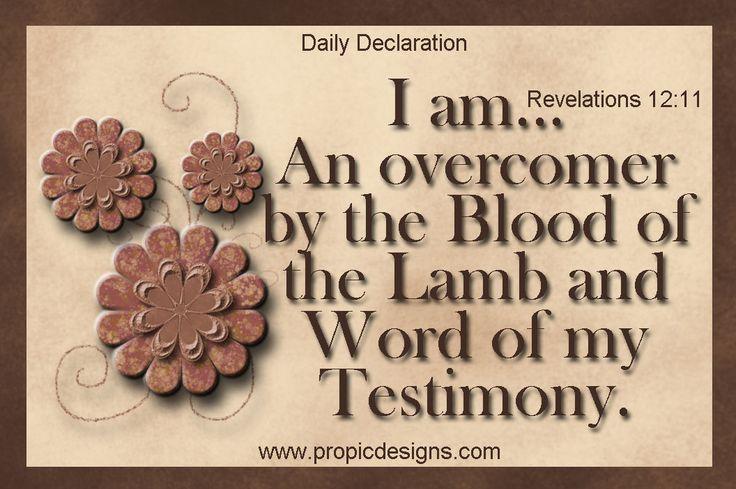 Revelation 12:11   Revelation 12, Postive words, Revelation