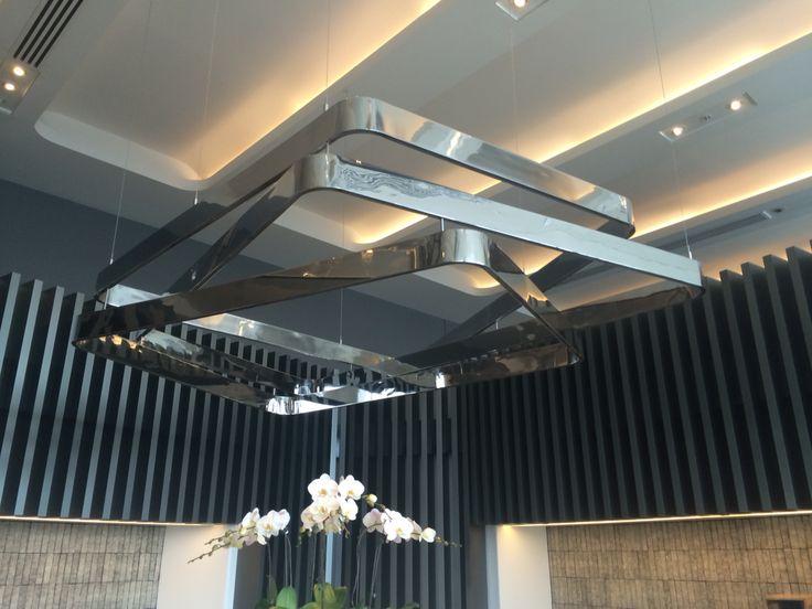 Metal light feature sky deck