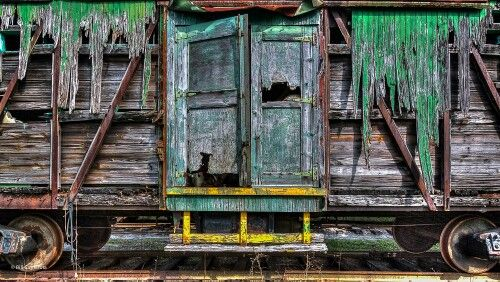Old Boxcar - If only this beauty could tell it's story. The vivid colours of this old timer where captures by one of our new photographers. Discover more of his work on www.burdseyeview.ca