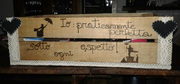 Cassetta pirografo frase Mary poppins