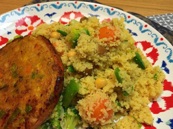 Nieuw recept: Couscous met gestoomde groenten - http://wessalicious.com/couscous-met-gestoomde-groenten/