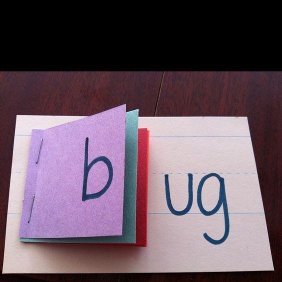 Word family flip books